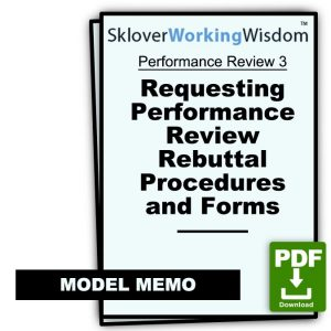 After Performance Review: Requesting Performance Review Rebuttal Procedures and Forms