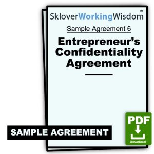Entrepreneur's Confidentiality Agreement