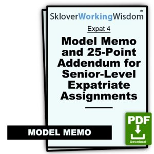Model Memo and 25-Point Addendum for Senior-Level Expatriate Assignments