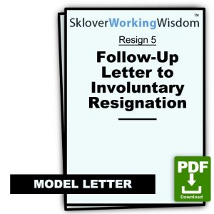 Follow-Up Letter to Involuntary Resignation