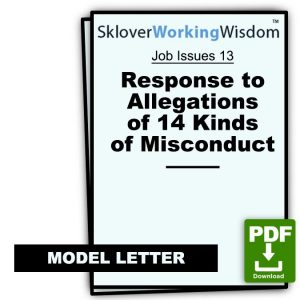 Response to Allegations of 14 Kinds of Misconduct
