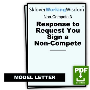 Model Letter: Response to Request You Sign a Non-Compete