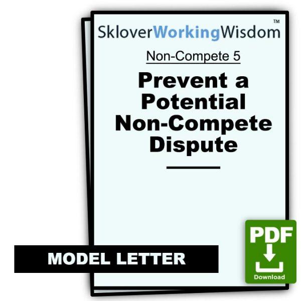 Sklover Working Wisdom Non-Compete 5 Model Letter