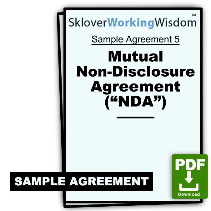 Mutual Non Disclosure Agreement Nda