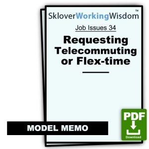 Model Memo Requesting Telecommuting or Flex-time