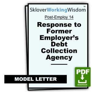 Response to Former Employer's Debt Collection Agency