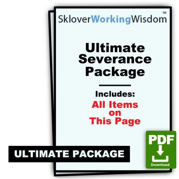 Sklover Working Wisdom Ultimate Severance Package Bundle Model Letters