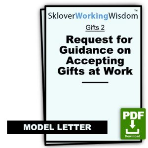 Request for Guidance on Accepting Gifts at Work