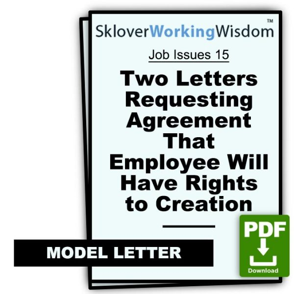 Sklover Working Wisdom intellectual property Job Issues 15 Model Letter