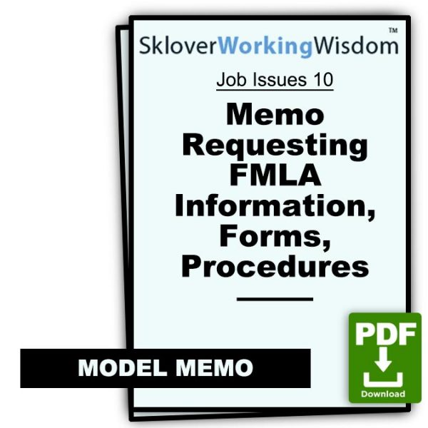 Sklover Working Wisdom requesting FMLA information Model Letter