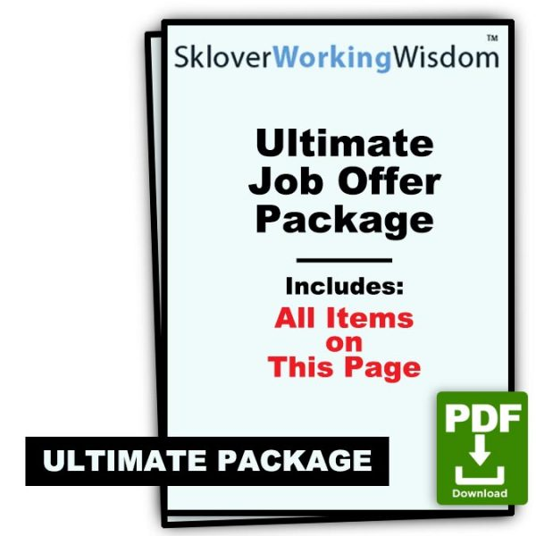 Sklover Working Wisdom Job Offer Ultimate Package Model Letters