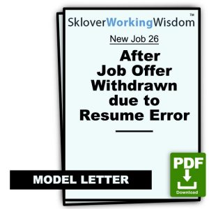 After Job Offer Withdrawn due to Resume Error