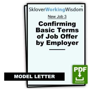 Confirming Basic Terms of Job Offer by Employer