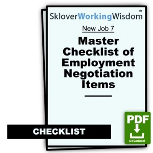 Master Checklist of Employment Negotiation Items