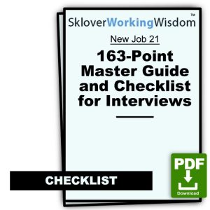 163-Point Master Guide and Checklist for Job Interviews