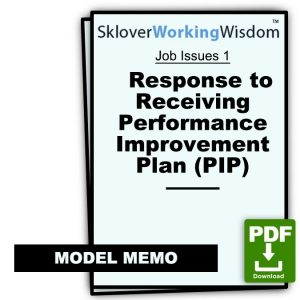 Response to Receiving Performance Improvement Plan