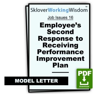 Employee's Second Response to Receiving Performance Improvement Plan