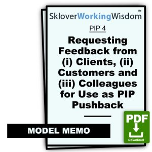Three Model Memos Requesting Feedback from (i) Clients, (ii) Customers and (iii) Colleagues for Use as PIP Pushback