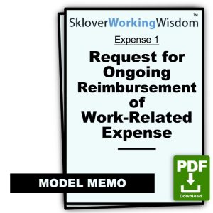 Request for Ongoing Reimbursement of Work-Related Expense