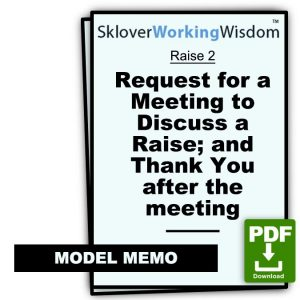 Two-In-One: (i) Request for a Meeting to Discuss a Raise; (ii) Thank You after the meeting