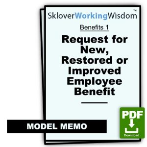 Request for New, Restored or Improved Benefit