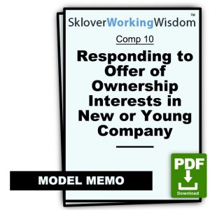 Model Memo and Addendum Responding to Offer of Ownership Interests in New or Young Company
