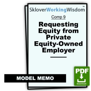 Letter Requesting Equity from Private Equity-Owned Employer