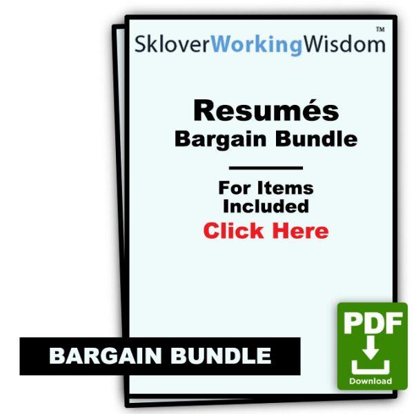 Sklover Working Wisdom Bargain Bundle Resume Model Letters