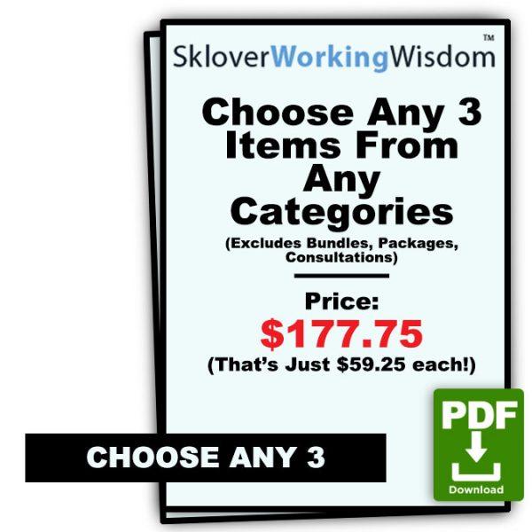 Sklover Working Wisdom Custom Combo Model Letters