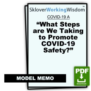 COVID-19 Model Letter A – What Steps are We Taking to Promote Covid-19 Safety?