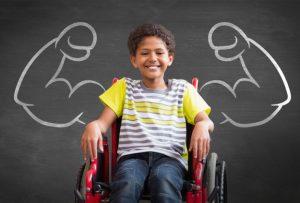 Sklover Working Wisdom Wheelchair Boy Strong