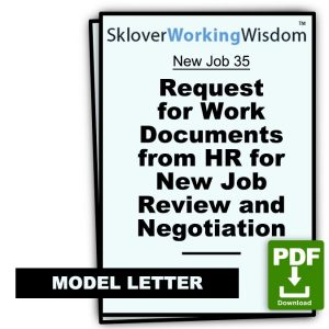Request for Work Documents from HR for New Job Review and Negotiation